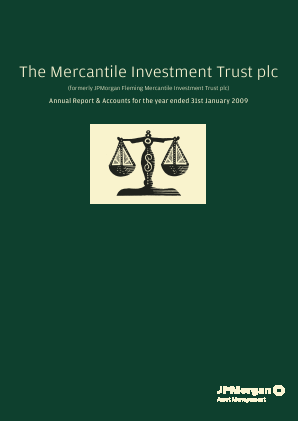 Mercantile Investment Trust Plc(The) annual report 2009