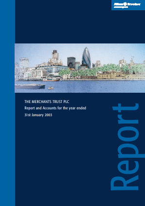 Merchants Trust annual report 2003