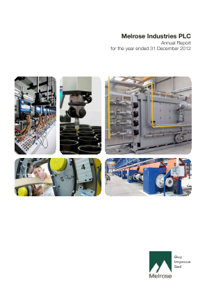 Melrose Industries Plc annual report 2012