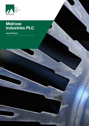 Melrose Industries Plc annual report 2015