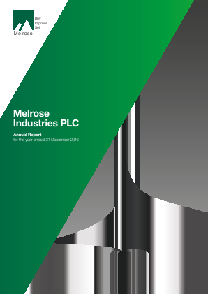 Melrose Industries Plc annual report 2016