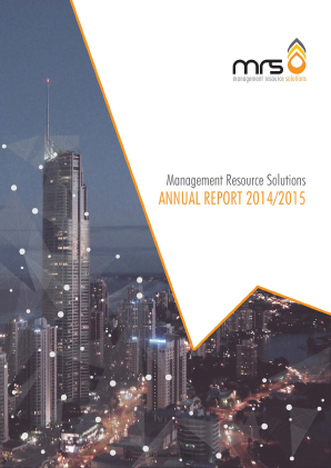 Melrose Resources annual report 2015