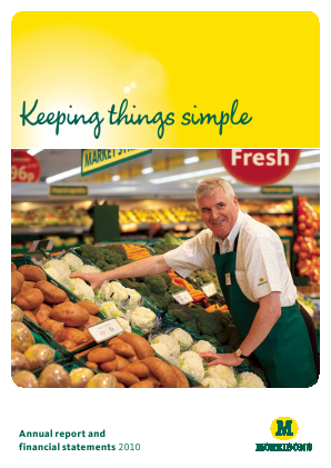 Morrison(WM) Supermarkets annual report 2010