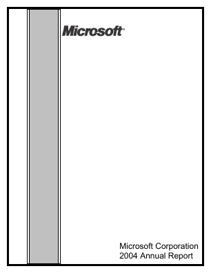 Microsoft annual report 2004