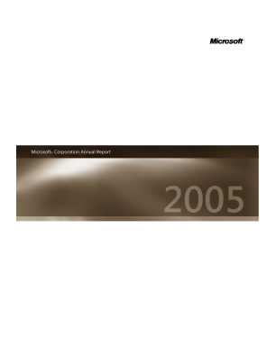 Microsoft Corporation annual report 2005