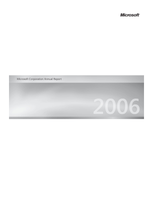 Microsoft annual report 2006