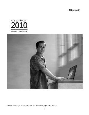 Microsoft annual report 2010