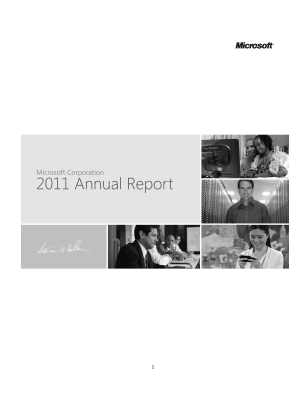 Microsoft Corporation annual report 2011