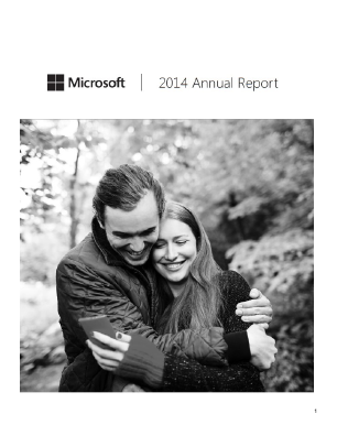 Microsoft Corporation annual report 2014