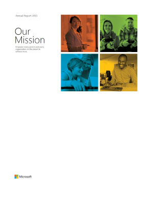 Microsoft Corporation annual report 2015