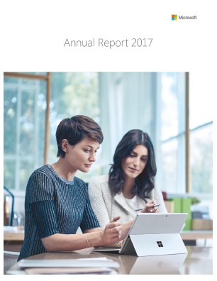 Microsoft annual report 2017