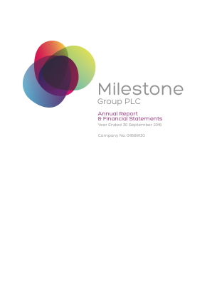 Milestone Group annual report 2016