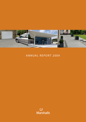 Marshalls annual report 2009