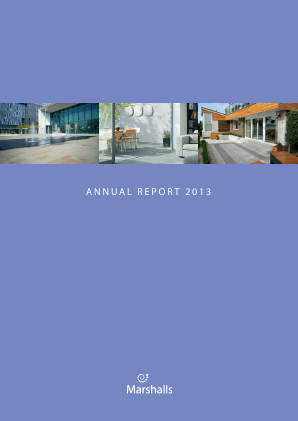 Marshalls annual report 2013