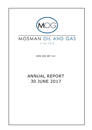 Mosman Oil & Gas annual report 2017