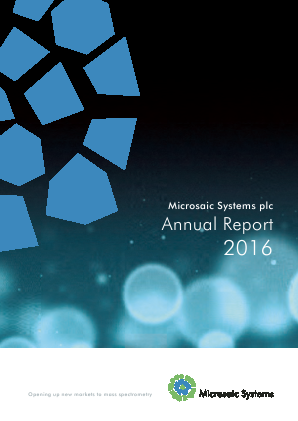 Microsaic Systems Plc annual report 2016