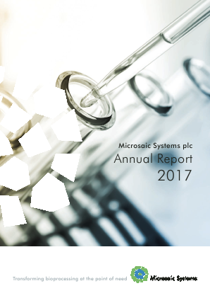 Microsaic Systems Plc annual report 2017