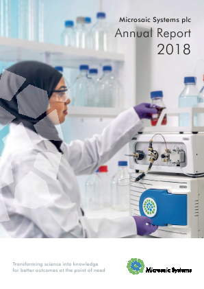 Microsaic Systems Plc annual report 2018