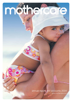 Mothercare annual report 2004