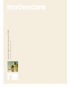 Mothercare annual report 2005
