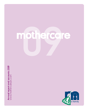 Mothercare annual report 2009