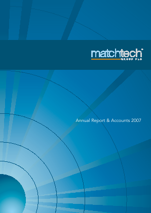 Gattaca (Previously Matchtech) annual report 2007