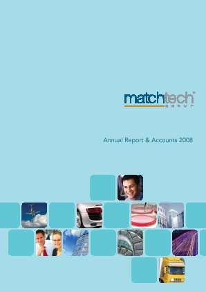 Gattaca (Previously Matchtech) annual report 2008