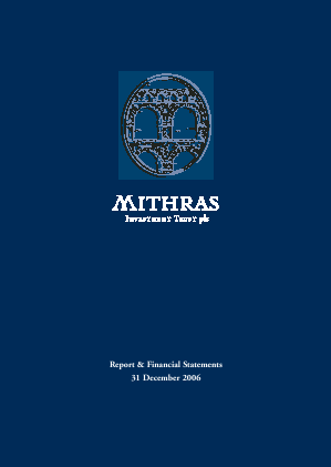 Mithras Investment Trust annual report 2006