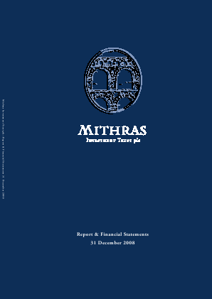 Mithras Investment Trust annual report 2008