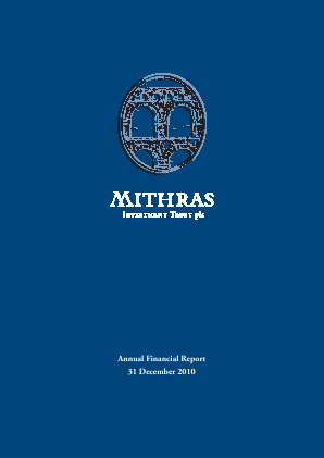Mithras Investment Trust annual report 2010