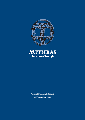 Mithras Investment Trust annual report 2011