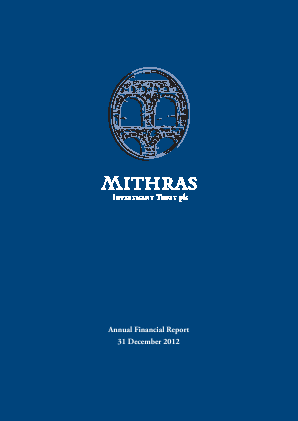 Mithras Investment Trust annual report 2012