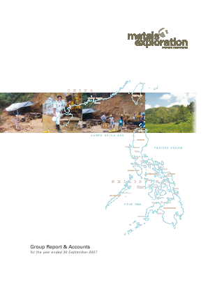 Metals Exploration Plc annual report 2007