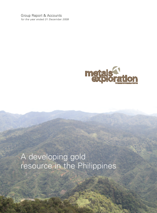 Metals Exploration Plc annual report 2009