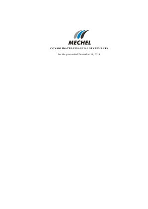 Mechel OAO annual report 2016