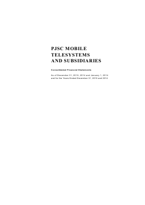 Mobile TeleSystems annual report 2015