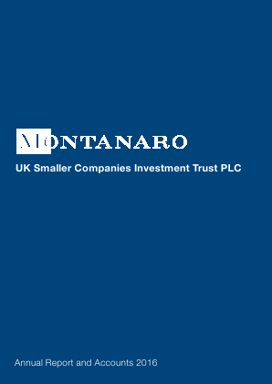 Montanaro UK Smaller Companies Investment Trust annual report 2016