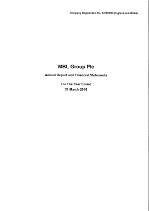 MBL Group Plc annual report 2016