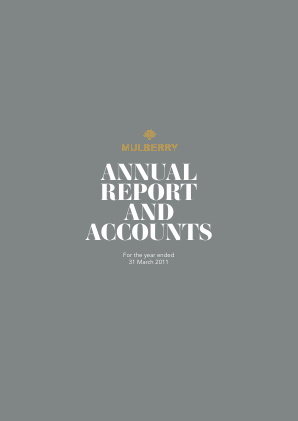 Mulberry Group annual report 2011