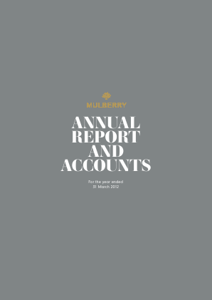 Mulberry Group annual report 2012