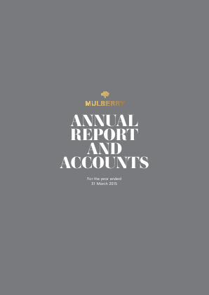 Mulberry Group annual report 2015