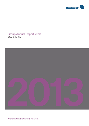 Munich Re Group annual report 2013