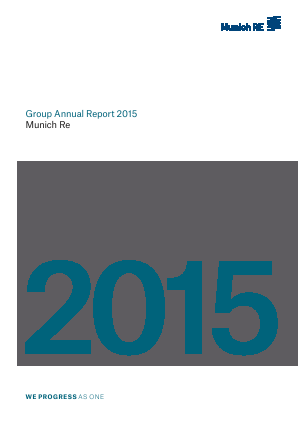 Munich Re Group annual report 2015