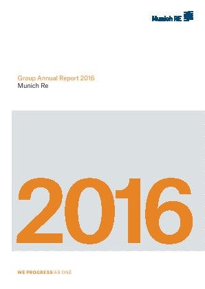 Munich Re Group annual report 2016