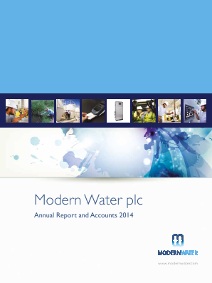 Modern Water Plc annual report 2014