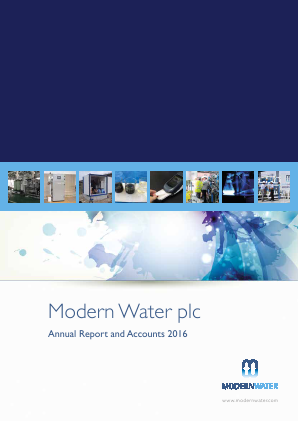 Modern Water Plc annual report 2016
