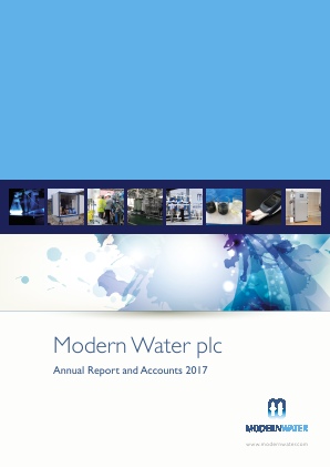 Modern Water Plc annual report 2017