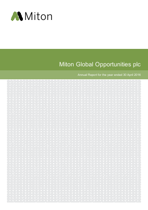 Milton Global Opportunities plc (previously Miton Worldwide Growth Investment Trust Plc) annual report 2016
