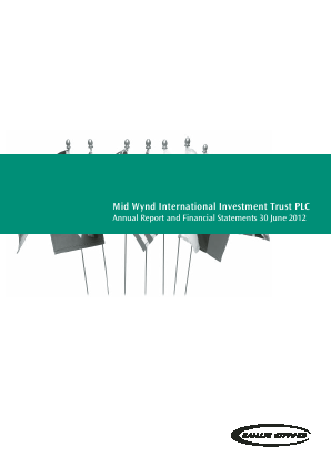 Mid Wynd International Investment Trust Plc annual report 2012