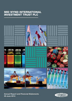Mid Wynd International Investment Trust Plc annual report 2013